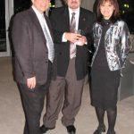 photo of Peter Koprowski with composers Alex Pauk and Alexina Louie after performance of In Memoriam Karol Szymanowski |in Toronto, Canada, 2011