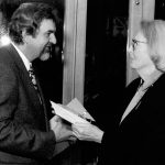 photo of Peter Koprowski with Joan Chalmers at the presentation of Jean A. Chalmers National Music Award in Toronto, Canada,1997