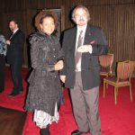 photo of Peter Koprowski with Michaëlle Jean - Governor General of Canada following performance of In Memoriam Karol Szymanowski in Ottawa, Canada, 2011