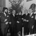 "photo Peter Paul Koprowski with award granting committee of ""Polish Journa"", London, England 1970"