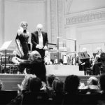 photo of Peter Paul Koprowski with Vincent La Selva following the performance of Elegia for Polish Youth at Carnegie Hall, New York, USA 2006