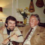 photo of Peter Koprowski and composer Andrzej Panufnik, London England, 1971