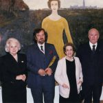 photo of Peter Koprowski with The Right Honourable Jeanne Sauvé - Governor General of Canada; The Honourable Maurice Sauvé and Madame Léger at the Jules Leger Prize Ceremony in Quebec City, Canada, 1989